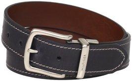 Tommy Hilfiger Men's Reversible Belt, Black/brown, 32