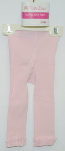 RuffleButts RLKPI060000 Pink Ruffle Footless Tights Size 6 to 12 Months
