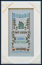Winter Seasonal Celebrations cross stitch chart Country Cottage Needleworks - $7.20