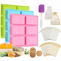 Aoibrloy 104pcs Silicone Soap making Molds Set with Gift Bag, Lable, Scr... - $26.27