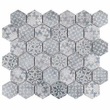 """SomerTile FTC2MDBL Medley Hex Porcelain Mosaic Floor and Wall, 11.125"""" x 12.625"""" image 13"""