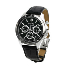 Seiko Seiko Selection SBTR021 Chronograph Men's Watch Black Dial New F/S From Jp - $159.99