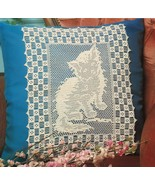 Cat & Friend Mat Kitten Pillow Blanket Table Runner Bird Curtain Crochet... - $11.99