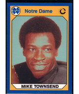 1990 Collegiate Collection Notre Dame #51 Mike Townsend NM Near Mint - $0.75