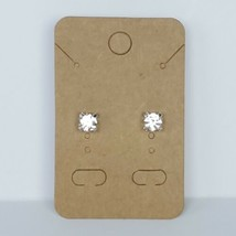Rhinestone Solitaire Silver Stud Earrings Post Fashion Costume Jewelry - $9.99