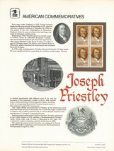 Official Joseph Priestly USPS Commemorative Panel (CP183)  - $4.30