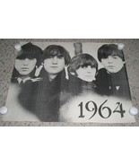 Beatles Poster Vintage Black White Origin Unknown - $64.99