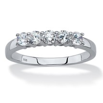 .70 TCW Round Created White Sapphire Platinum over Sterling Silver Ring ... - €46,19 EUR