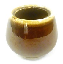 """McCoy Pottery Brown & Tan Sugar Dish without Lid 2020 3.5"""" tall, 13.5"""" r... - $12.65"""