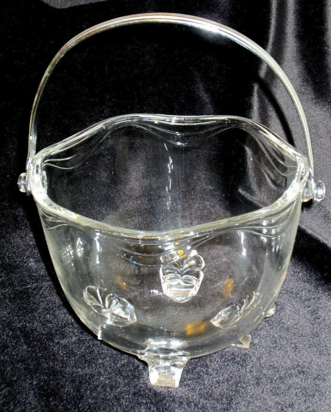 Primary image for Ice Bucket Fostoria Crystal Coronet Pattern Vintage Elegant Glass Clear