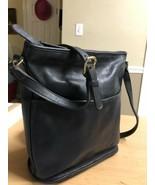 COACH 0148-039 Black Leather shoulder bag made USA Vintage - $73.52