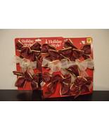 12 bows, wreath bows, vintage bows for decorating, package bows, trim de... - $40.00