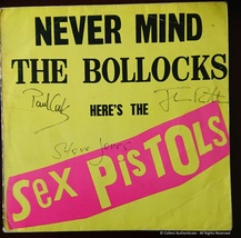 Sex Pistols - ORIGINAL SIGNED - Never Mind The Bollocks LP Album - $459.00