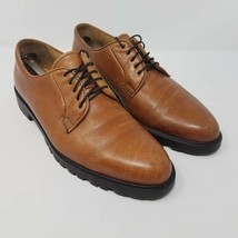 Barneys New York Mens Oxfords Shoes Brown Leather Lace Up Spain 10 EUR 43 M - $66.99