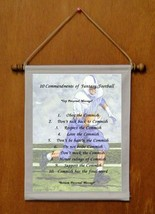 10 Commandments of Fantasy Football - Personalized Wall Hanging (762-1) - $19.99