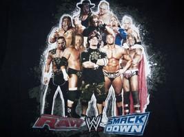 WWE Raw Smackdown John Cena Wrestling Fighting Champs Black Graphic T Shirt L - $17.17