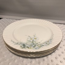 Royal Stafford Bone China 24-4 Apple Blossom Blue Dinner plates Lot of 5 - $39.38