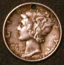 1938-P Silver Mercury Dime. Free Shipping!!!!!!!!!!!!!!! - $3.79