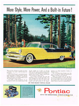 Vintage 1956 Magazine Ad Pontiac More Style More Power And a Built-In Future - $5.93