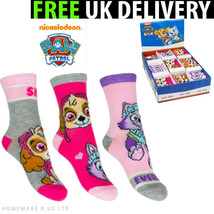 GIRLS SOCKS 1 PAIRS PACK ( 6-8 9-12 13-3 OFFICIAL PAW PATROL KIDS CHILDR... - $3.17