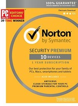 Norton Security Premium – 10 Devices – 1 Year Subscription - Product Key... - $50.05