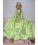 Vintage Boudoir Bed Doll French Egghead Rare Face Cloth Silk Hair Daela - $282.15