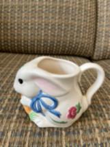 Poppies on blue bunny mug - $8.00