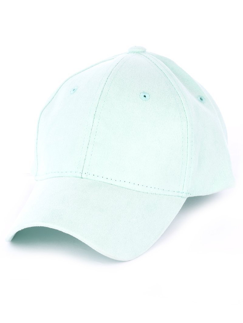 Solid Colored Baseball Cap Hat - Faux Suede (Mint)
