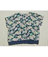 Women's Floral Slip Over Blouse Blouson Size 20 - $7.42