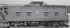 Funaro & Camerlengo HO Southern Single pane wood Caboose kit 506 image 2