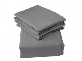 King Size Gray 1600 Series Luxury Regal 6 Piece Bed Sheet Set - $46.39 CAD