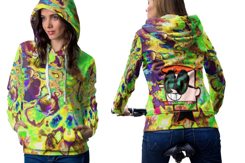 Hallucinate dexter dmt psychedelic hoodie zipper for women