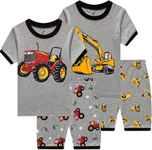 Pajamas for Boys 4 Pieces Baby Monster Truck Clothes Summer Kids Bigfoot... - $39.11