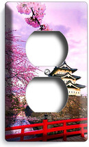 Hirosaki Castle Japan Blooming Sacura Tree Outlet Wall Plate Room Home Art Decor - $8.99