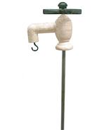 Garden Faucet w/Stake Yard Art Plant Holder Flower Beds  - $24.99