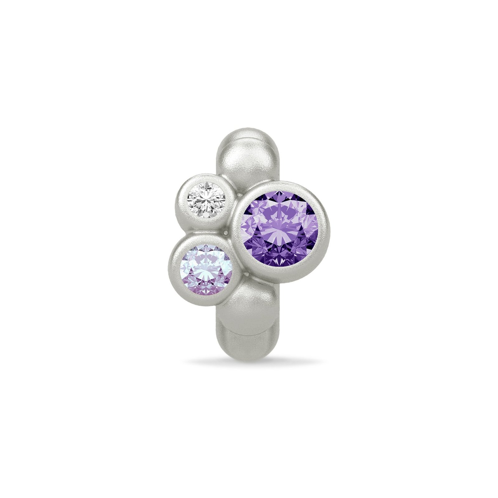 Endless Jewelry Sterling Silver Purple Sweet Dreams Cubic Zirconia Charm 41307-1