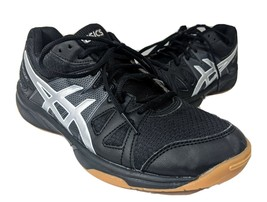Asics Black Silver Athletic Shoes Womens Size 8 Volleyball Gel-Upcourt B... - $34.34