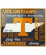 NCAA Tennessee Volunteer Embossed Fan Cloud Sign 12 x 14 Metal Man Cave ... - $17.77