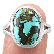 Turquoise 925 Sterling Silver Ring Jewelry s.8.5 SDR9399 - $22.98