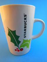 Starbucks  Christmas Mug Cup 2011 Holly & Berries Excellent Condition - $5.19