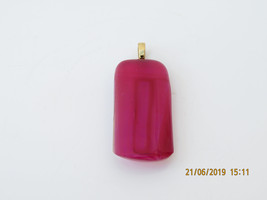 Handmade Glass Pendant - Purple/Red on 925 Solid Silver Chain - $10.00
