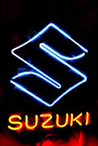 "Brand New SUZUKI Auto Racing Beer Bar Neon Light Sign 16""x15"" [High Qual... - $129.00"