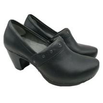 Dansko Clogs Slip-on Shoes Size 38 Black Leather 7.5 - 8 - $57.41