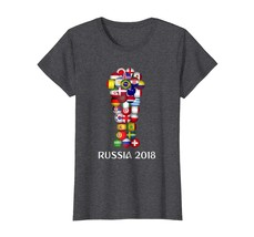 Dad Shirts - Russia World Football 2018 All 32 Teams Soccer Gift Tshirt ... - $19.95+
