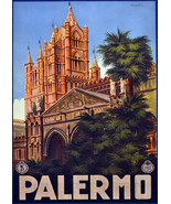 """20x30""""Poster on Canvas.Home Room Interior design.Travel Italy.Palermo.6525 - $60.78"""