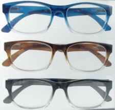 Nine West Premium Reading Glasses Reader +2.50 Strength 3 Pairs Black Bl... - $28.49