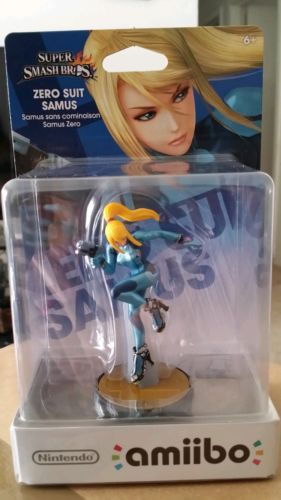 Zero Suit Samus Amiibo Super Smash Bros Nintendo Switch Wii U 3DS *NEW* for sale  USA