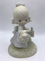 Precious Moments Figurine 1988 - July - Monthly figurine - Girl Puppy on... - $8.81