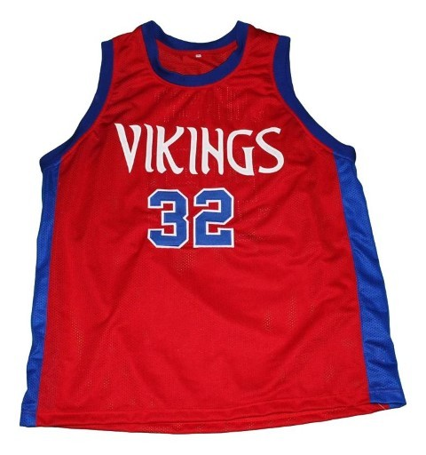 Magic johnson  32 vikings high school new men basketball jersey red   1