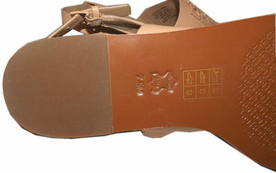 Tory Burch Melinda Powder Coated Flat Two Beands Sandals Slingback Shoes 7.5